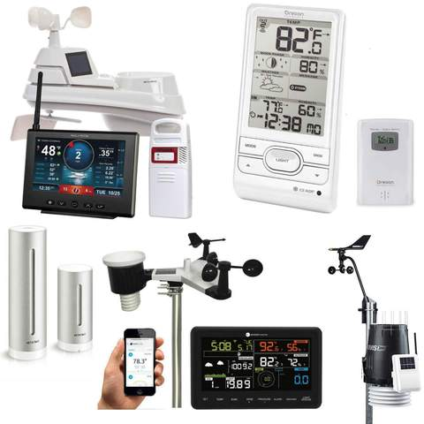 Cabled weather station, Wireless weather station