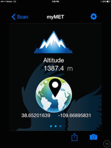 WeatherHawk myMet - Altitude & GPS Info