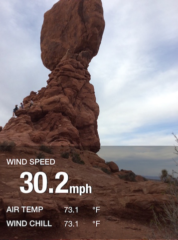 WeatherHawk myMet - Balanced Rock - Arches National Park