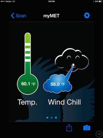 WeatherHawk myMet - Temperature & Wind Chill