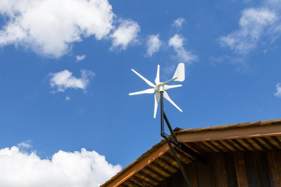 Roof-mounted home wind turbine
