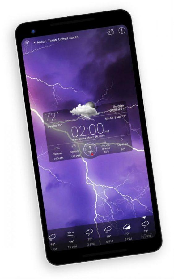 Weather live app widget