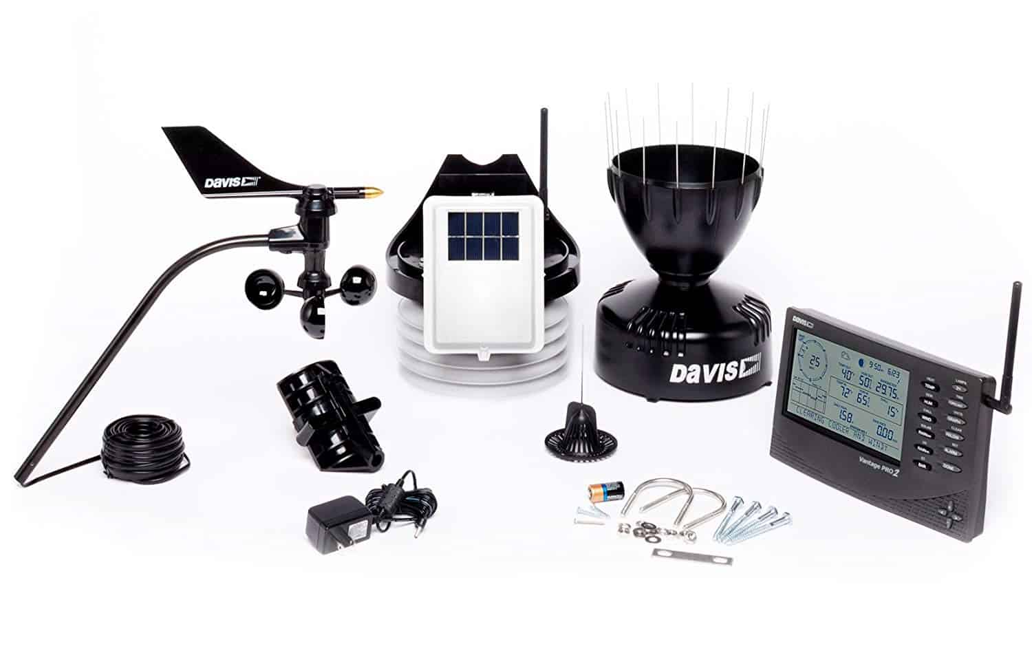Davis Instruments 6152 Vantage Pro2 Wireless Weather Station with Standard Radiation Shield and LCD Display Console