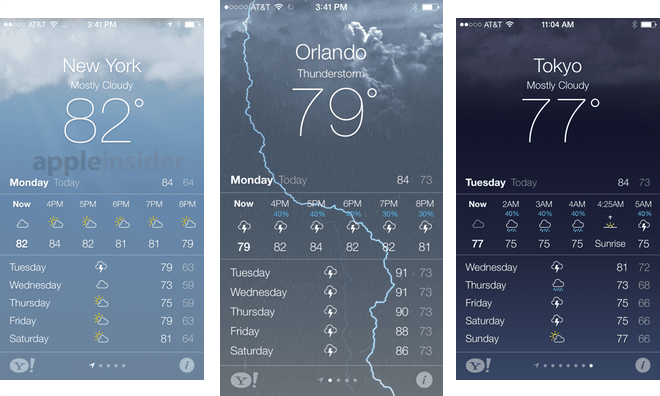 ios native weather app