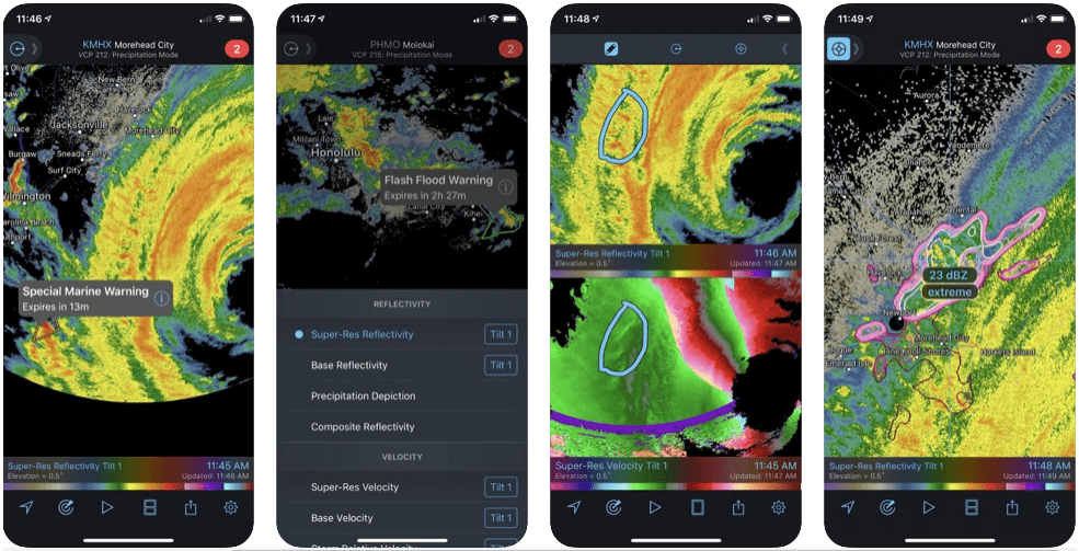 radarscope weather app for iphone